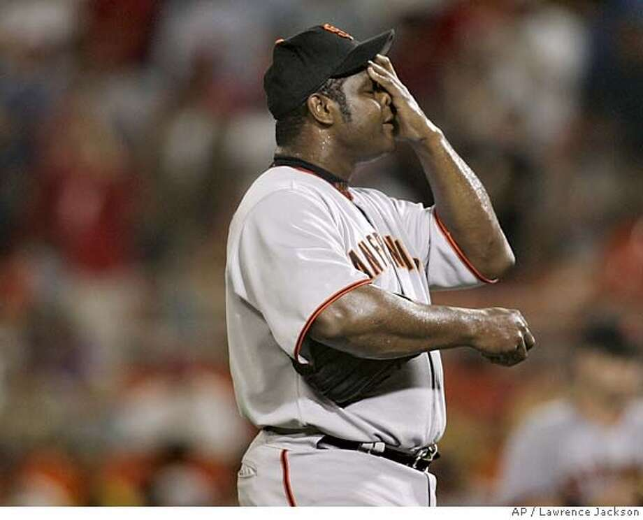 """Armando Benitez  The Giants picked up Benitez coming down from a career year—coming way, way down. The difference between a good closer and a bad one is the difference between Benitez the Marlin in 2004 and Benitez the Giant in 2005. But he didn't just stink. He criticized the team for not giving him more of a lead to work with in the 9th. He blew roughly 1 out of every 4 saves as a Giant, missed months due to injury, lost one game by giving up two balks in the 12th inning, and was known to sulkily claim """"I did my job"""" after losing games."""