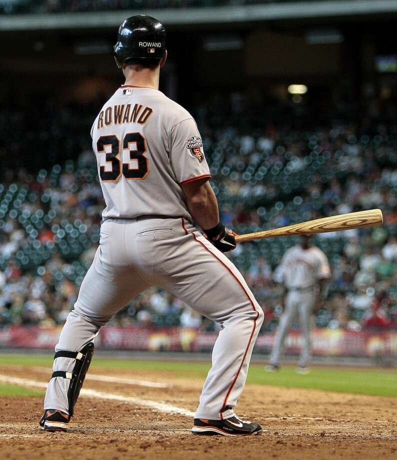 """Aaron Rowand  Forget the eyesore he made at the plate sitting on his invisible chair. Rowand summed up an era of overpaid, underperforming free agent pickups. Signed to a 5 year/$60 million contract, Rowand not only floundered at the plate, he would eventually try blaming his offensive struggles on AT&T Park and declare in an interview with the Miami Herald that he """"didn't enjoy"""" his time with San Francisco."""