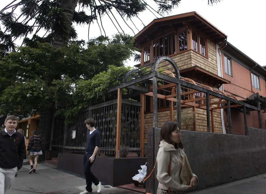 The newly rebuilt exterior at Chez Panisse bears a different look.
