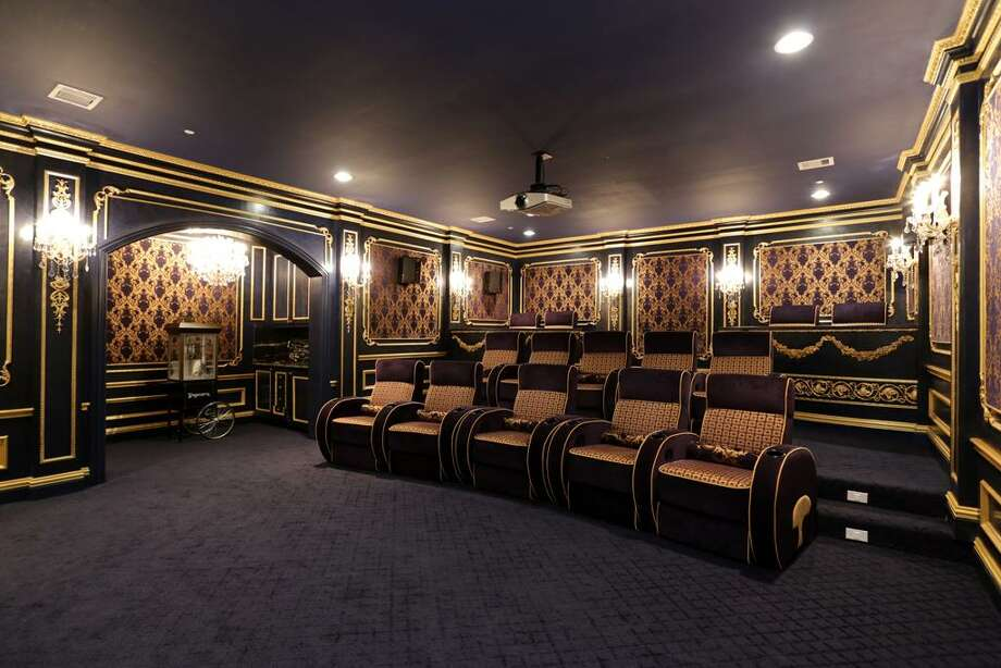 Modeled after an Opera House in Vienna is this dazzling Home Theater.