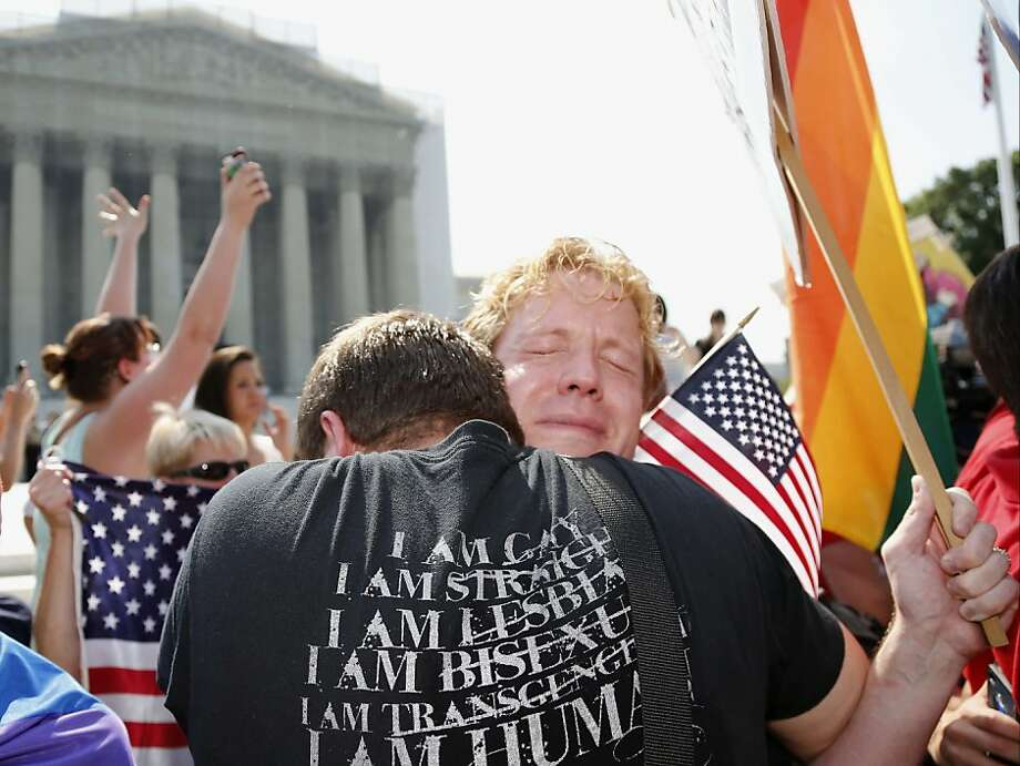 June 26, 2013: The Supreme court deny an appeal by Prop. 8 backers, clearing the way for gay nuptials to resume in California. Photo: Charles Dharapak, Associated Press