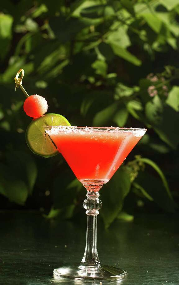 Brennan's of Houston takes the edge off the heat with its Margamelon, which is made with watermelon purée, Sauza Hornitos Reposado, Grand Marnier, fresh lime juice and agave syrup. Photo: Nick De La Torre, Staff / © 2013  Houston Chronicle