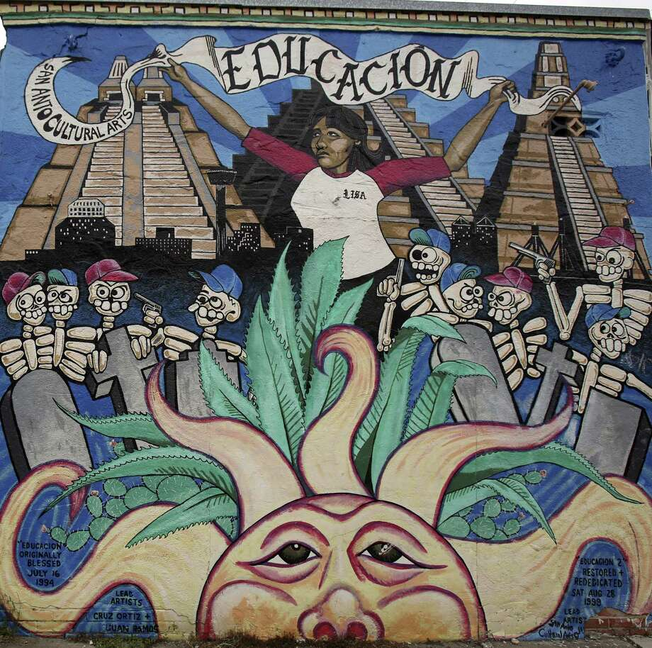 Educacion mural on the city's westside, photographed Friday May 24, 2013.