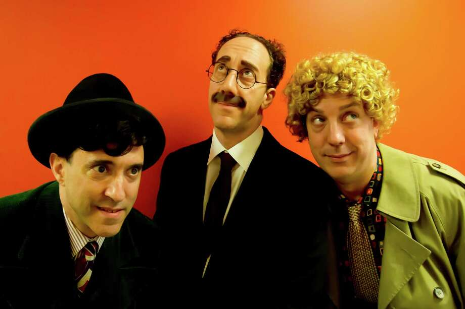 Caption (L to R):: Caption (L to R): Jonathan Brody (Chico), Joey Slotnick (Groucho), Brad Aldous (Harpo). Photo credit goes to Paul Fox. Photo: Paul Fox / Paul Fox
