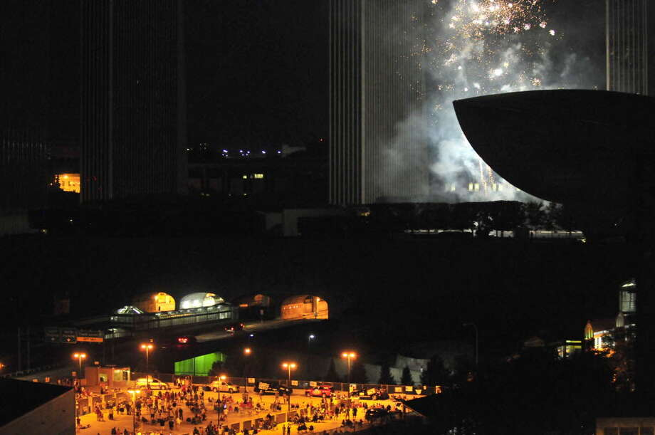 The bang the booms and the sight of fireworks during the Price Chopper 4th of July celebration at the Empire State Plaza in Albany N.Y.Wednesday July 4, 2012. (Michael P. Farrell/Times Union)