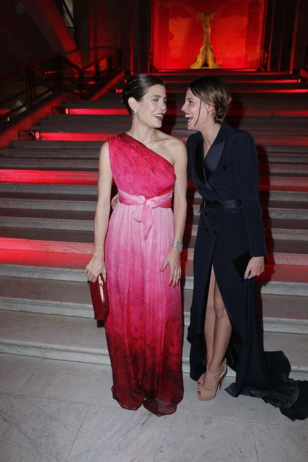 Charlotte Casiraghi, left, and Juliette Maillot