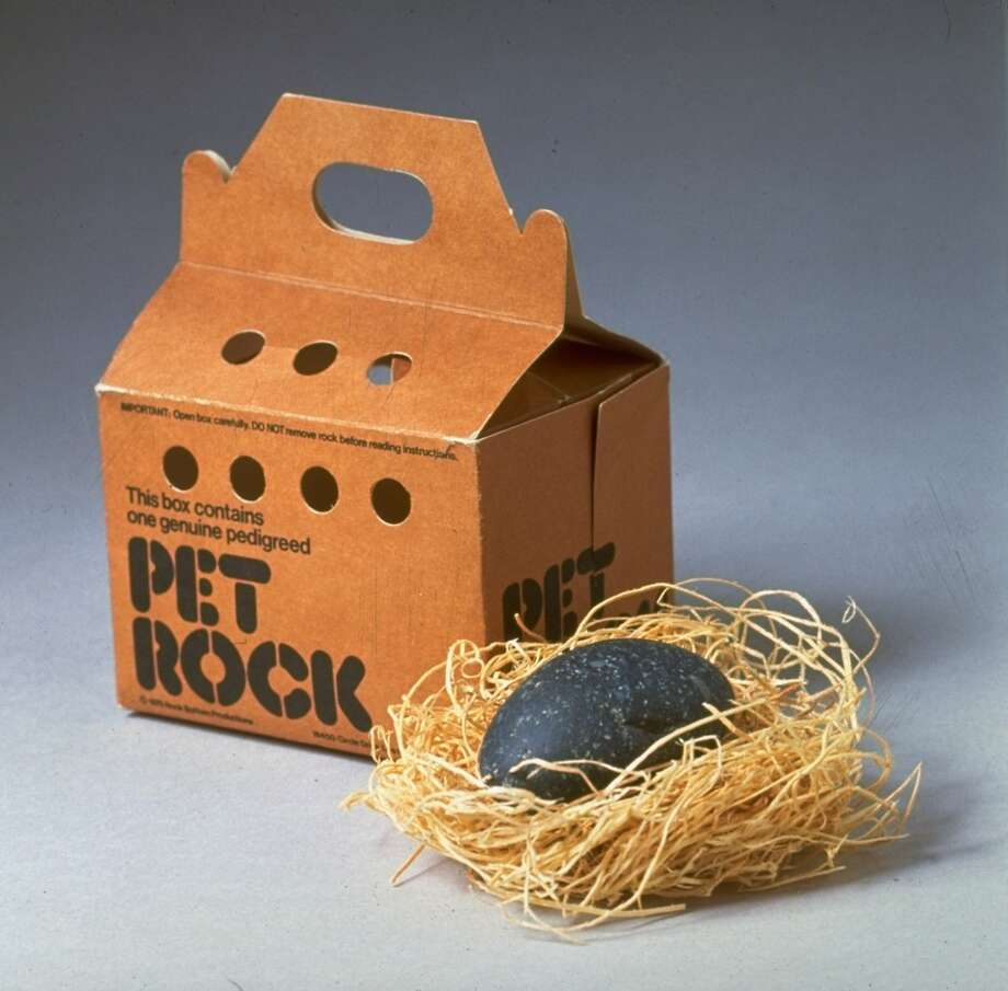 The least fun, but easiest pet ever: Pet Rocks were a fad in the mid-1970s.