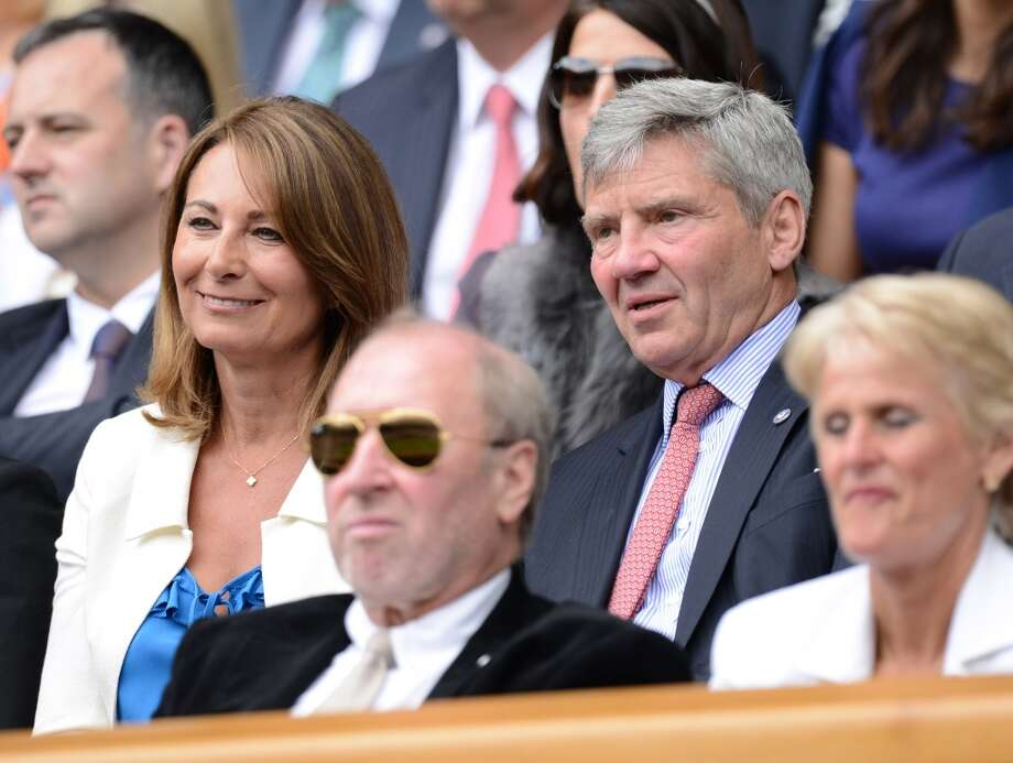 Carole and Michael Middleton, parents of Kate and Pippa, attend Day 3 of the Wimbledon Tennis Championships 2013 at Wimbledon on June 26, 2013 in London, England.
