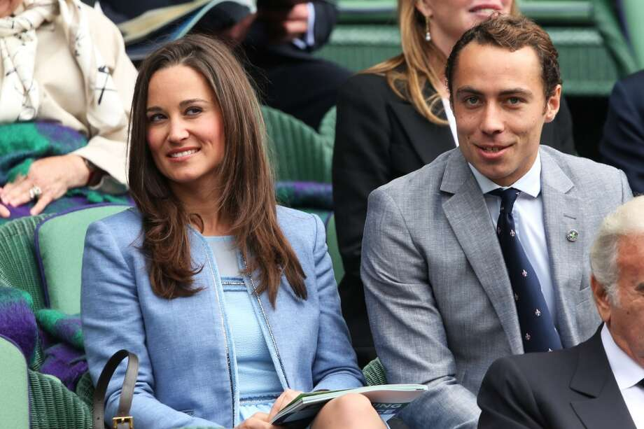 Pippa Middleton and James Middleton watch the Gentlemen's Singles first round match between Andy Murray of Great Britain and Benjamin Becker of Germany on day one of the Wimbledon Lawn Tennis Championships at the All England Lawn Tennis and Croquet Club on June 24, 2013 in London, England.  (Photo by Clive Brunskill/Getty Images)