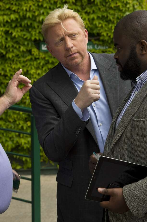 Boris Becker sighted at Wimbledon on June 26, 2013 in London, England.