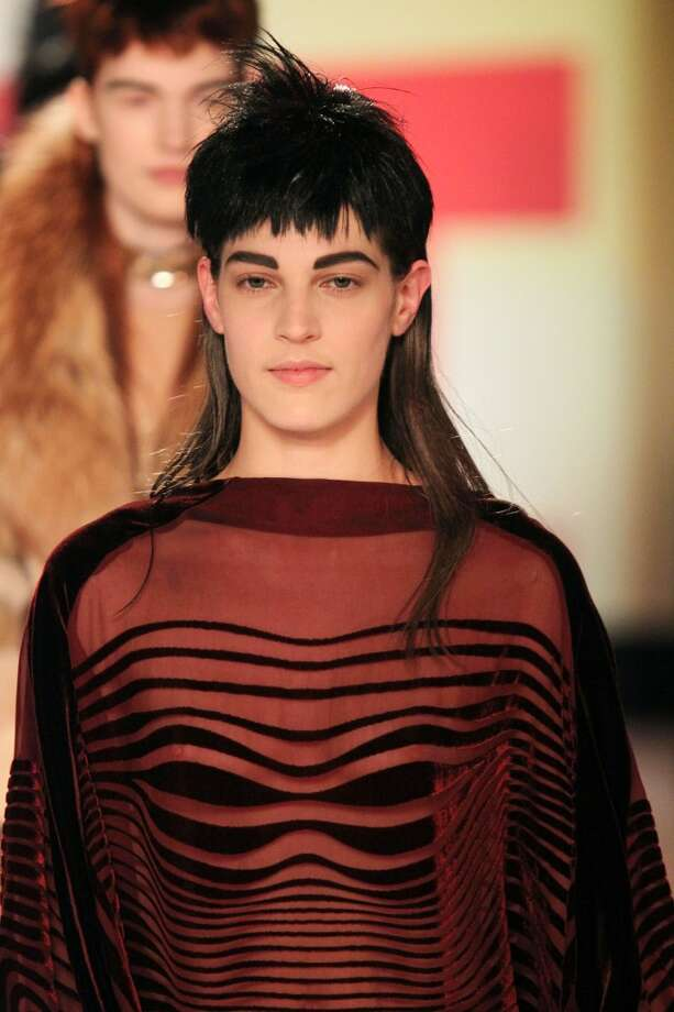 Look, it's a fashion show from 1991.   Actually, it's not. This is from Paris in March 2013, and this photo only confirms one of our greatest fears - that the mullet will never, ever die.   Here's a brief synopsis of the mullet's inexplicable staying power in pop culture.
