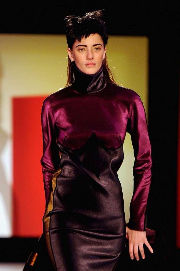 Jean Paul Gaultier sent mulleted models down the runway during Paris Fashion Week.