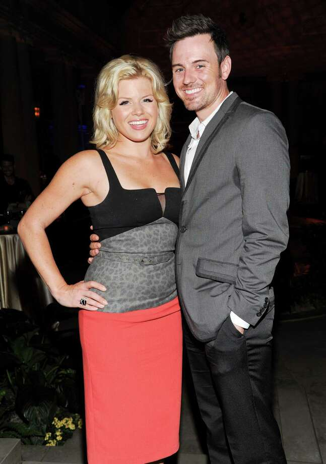 "Actress Megan Hilty boyfriend Brian Gallagher attend the ""White House Down"" premiere party at The Frick Collection on Tuesday, June 25, 2013 in New York. (Photo by Evan Agostini/Invision/AP) ORG XMIT: NYEA201 Photo: Evan Agostini, AP / Invision"