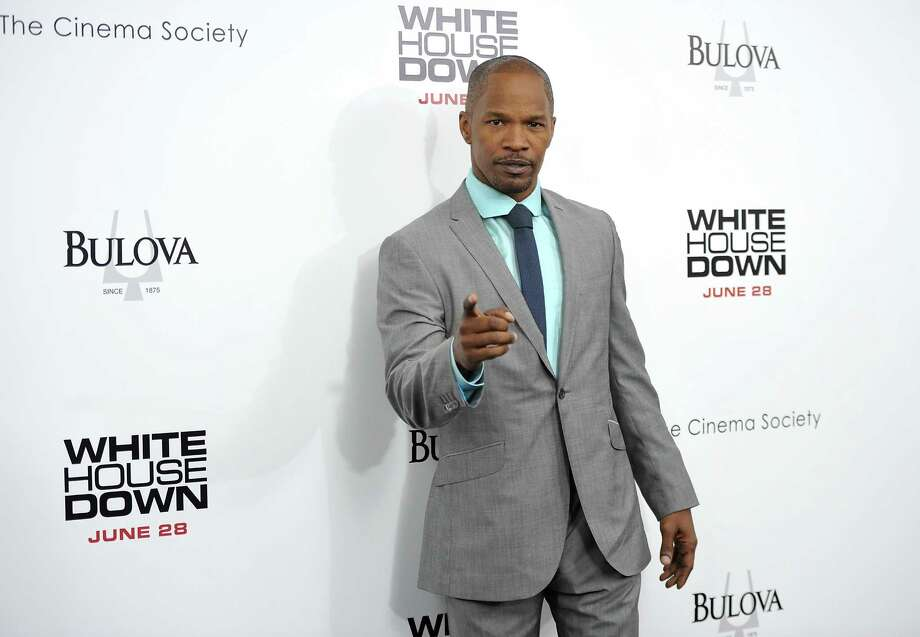 "Actor Jamie Foxx attends the ""White House Down"" premiere at the Ziegfeld Theatre on Tuesday, June 25, 2013 in New York. (Photo by Evan Agostini/Invision/AP) ORG XMIT: NYEA121 Photo: Evan Agostini, AP / Invision"