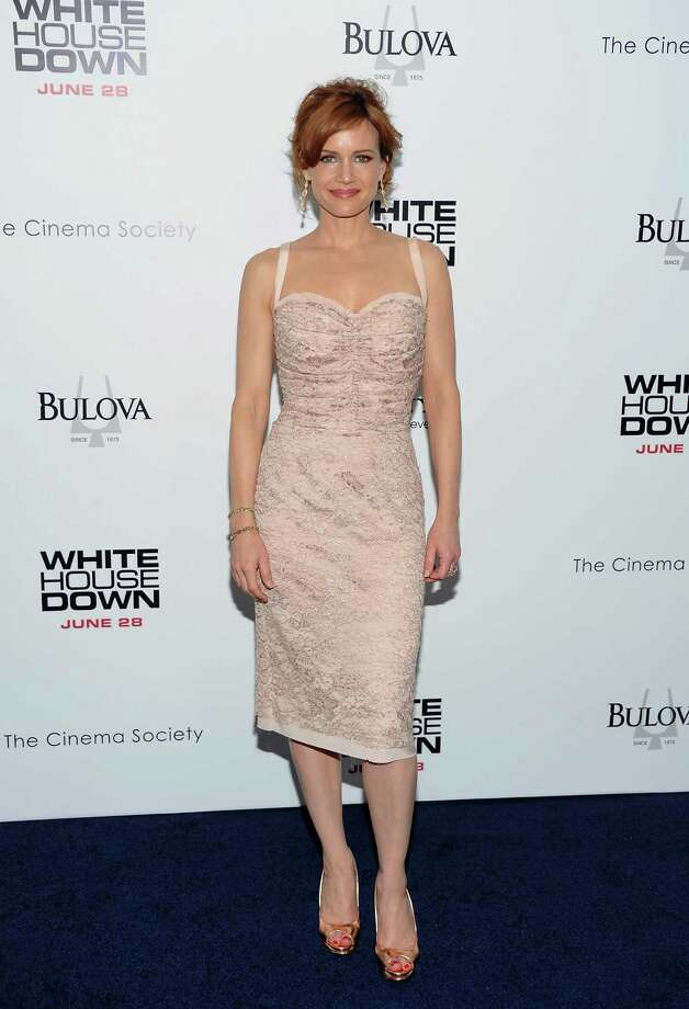"Actress Carla Gugino attends the ""White House Down"" premiere at the Ziegfeld Theatre on Tuesday, June 25, 2013 in New York. (Photo by Evan Agostini/Invision/AP) ORG XMIT: NYEA114 Photo: Evan Agostini, AP / Invision"