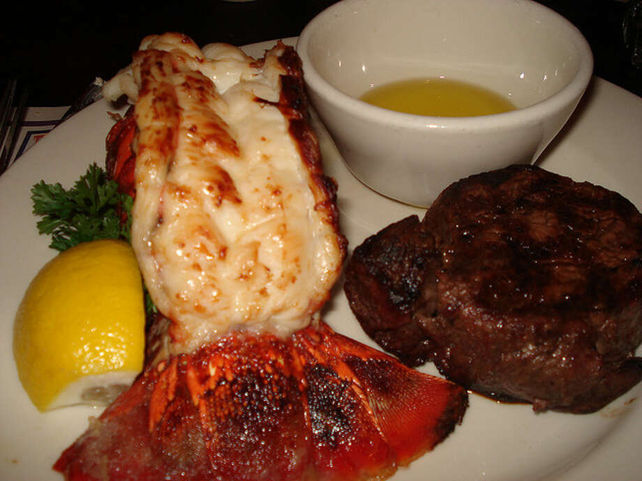 Meal: Lobster tail, steak, apple pie, vanilla ice cream, 7-Up