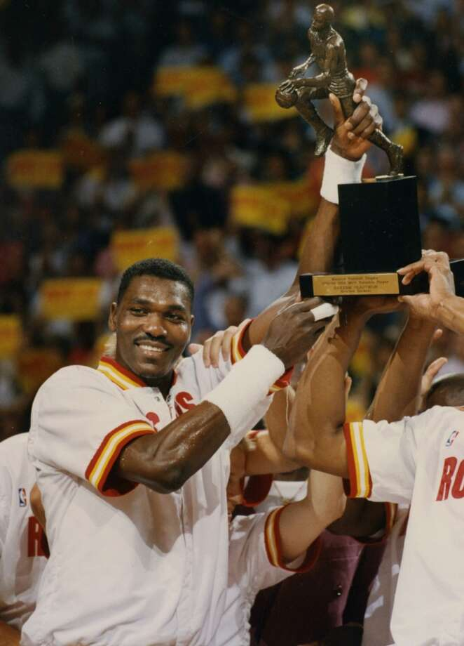 1984: Hakeem Olajuwon, first round, 1st overall One the best players in NBA history, The Dream is simply the greatest player in franchise history. The UH product led the team to back-to-back championships and was named the 1993-94 MVP. A 12-time All-Star, Olajuwon was a two-time Defensive Player of the Year. He played all but one (2001-02 in Toronto) of his 18 years in Houston. Photo: Chronicle File