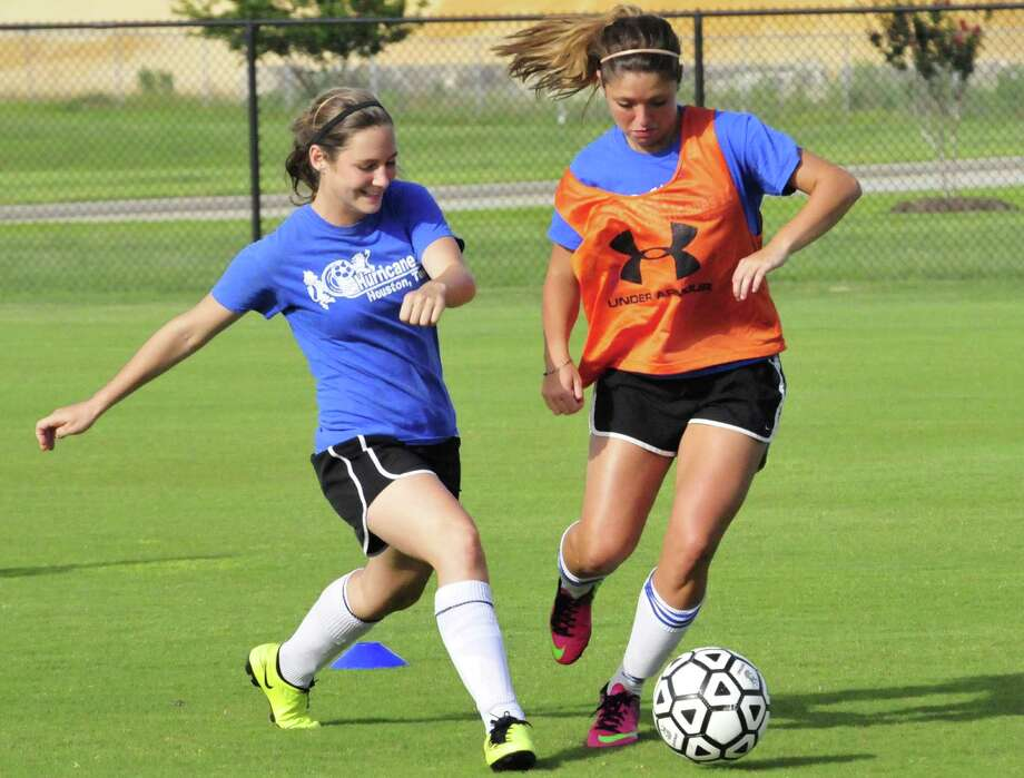 The Albion Hurricanes U16 girls' soccer team practiced at Lamar University in preparation for the upcoming U.S. Youth Soccer National Tournament. Photo: Cassie Smith