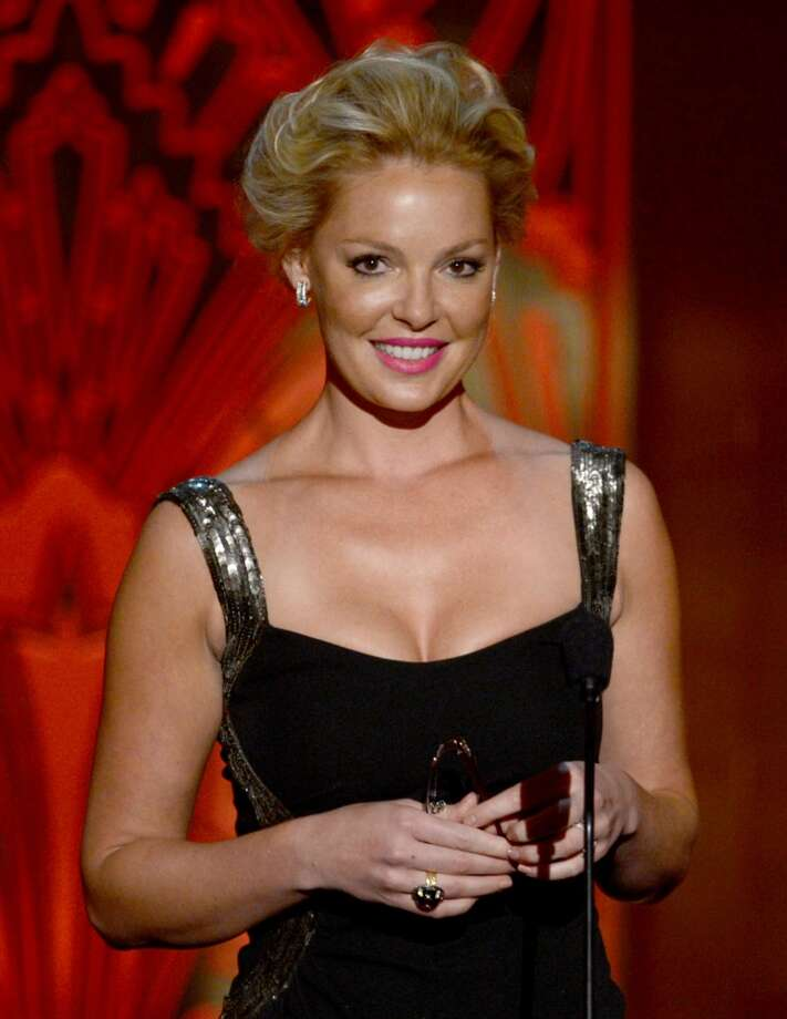 "Actress Katherine Heigl speaks onstage at the 40th AFI Life Achievement Award honoring Shirley MacLaine held at Sony Pictures Studios on June 7, 2012 in Culver City, California. Heigl, a longtime New Canaan resident, is starring in the upcoming comedy/drama film, ""North of Hell."""