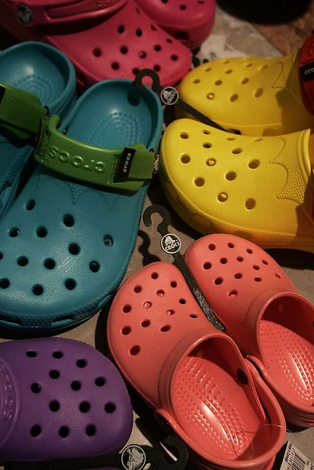 Crocs is working to let customers know about its many styles beyond the original clogs. Photo: Liz Hafalia, SFC