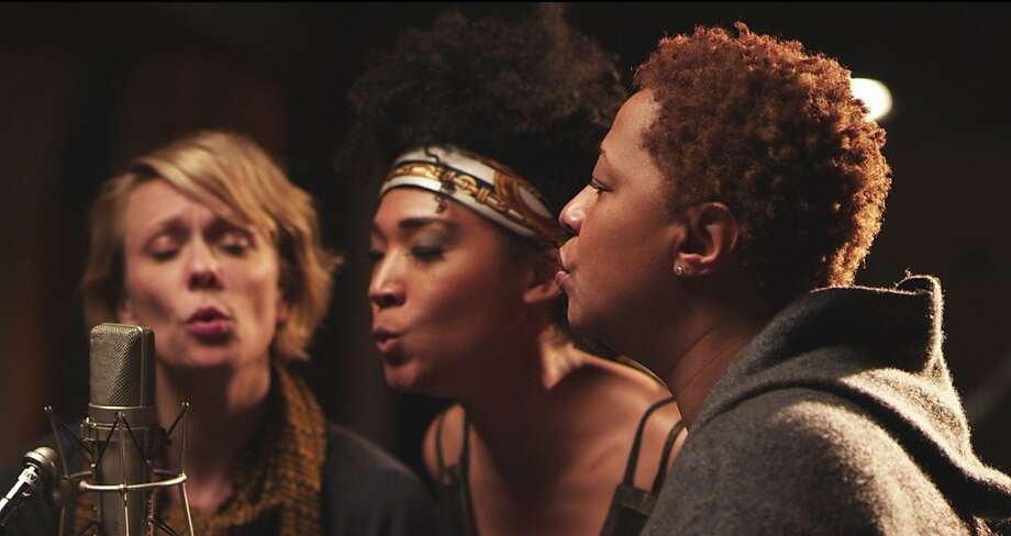 "Jo Lawry (left), Judith Hill and Lisa Fischer, professional backup singers, in the documentary ""20 Feet From Stardom."" Photo: Graham Willoughby, New York Times"