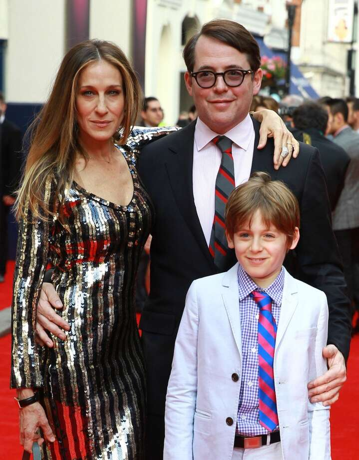 LONDON, UNITED KINGDOM - JUNE 25: Sarah Jessica Parker, Matthew Broderick and James Wilkie Broderick attends the opening night for 'Charlie And The Chocolate Factory' at Theatre Royal on June 25, 2013 in London, England. (Photo by Fred Duval/FilmMagic)