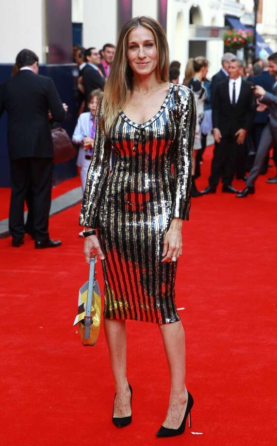 LONDON, UNITED KINGDOM - JUNE 25:  Sarah Jessica Parker attends the opening night for 'Charlie And The Chocolate Factory' at Theatre Royal on June 25, 2013 in London, England. (Photo by Fred Duval/FilmMagic)
