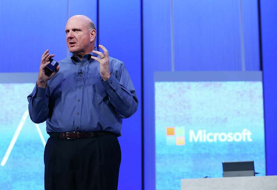 SAN FRANCISCO, CA - JUNE 26:  Microsoft CEO Steve Ballmer speaks during the keynote address during the Microsoft Build Conference on June 26, 2013 in San Francisco, California.  Microsoft debuted an upgrade to their Windows 8 operating system during the Microsoft Build Conference that runs through June 28.  (Photo by Justin Sullivan/Getty Images) ORG XMIT: 171781263 Photo: Justin Sullivan / 2013 Getty Images