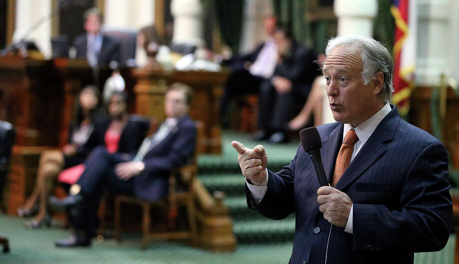Democrat caucus leader Kirk Watson tries to stall a vote in the final minutes after Fort Worth Senator Wendy Davis filibusters in an effort to cause abortion legislation to die without a vote on the floor of the Senate Tuesday, June 25, 2013. Photo: Tom Reel, San Antonio Express-News