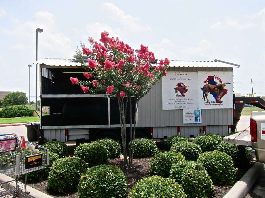 Landscaping at Brooks' Place BBQ trailer in Cypress. Photo: Alison Cook