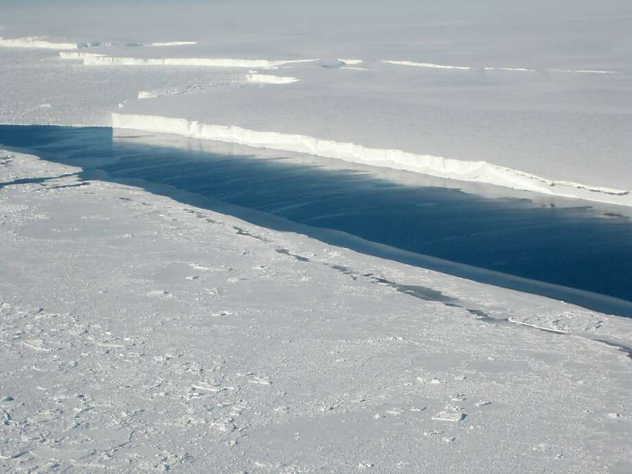 """This handout photo provided by NASA June 13, 2013 shows the ice front of Venable Ice Shelf, West Antarctica, in October 2008. It is an example of a small-size ice shelf that is a large melt water producer. Ocean waters melting the undersides of Antarctic ice shelves are responsible for most of the continent's ice shelf mass loss, a new study by NASA and university researchers has found.  Scientists have studied the rates of basal melt, or the melting of the ice shelves from underneath, of individual ice shelves, the floating extensions of glaciers that empty into the sea. But this is the first comprehensive survey of all Antarctic ice shelves. The study found basal melt accounted for 55 percent of all Antarctic ice shelf mass loss from 2003 to 2008, an amount much higher than previously thought. AFP PHOTO / HO /  NASA/JPL-Caltech/UC Irvine       == RESTRICTED TO EDITORIAL USE / MANDATORY CREDIT: """"AFP PHOTO / NASA/JPL-Caltech/UC Irvine / NO SALES / NO MARKETING / NO ADVERTISING CAMPAIGNS / DISTRIBUTED AS A SERVICE TO CLIENTS ==HO/AFP/Getty Images Photo: Ho, AFP/Getty Images"""