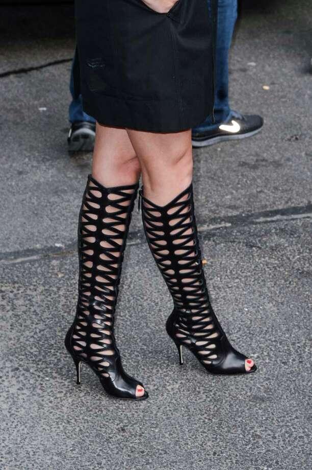 A closer look at her boots. Photo: Ray Tamarra, FilmMagic / 2013 Ray Tamarra