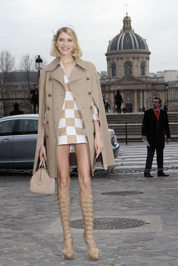 Elena Perminova is married to a Russian billionaire and could afford an entire boot, but prefers these straps. Photo: Marc Piasecki, WireImage / 2013 Marc Piasecki