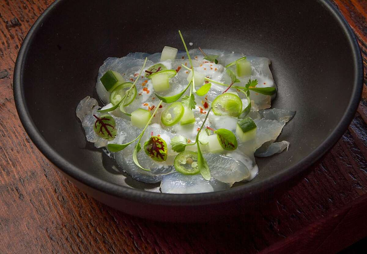 The local Halibut Ceviche at 1601 Bar & Kitchen in San Francisco, Calif., is seen on Friday, June 21st, 2013.