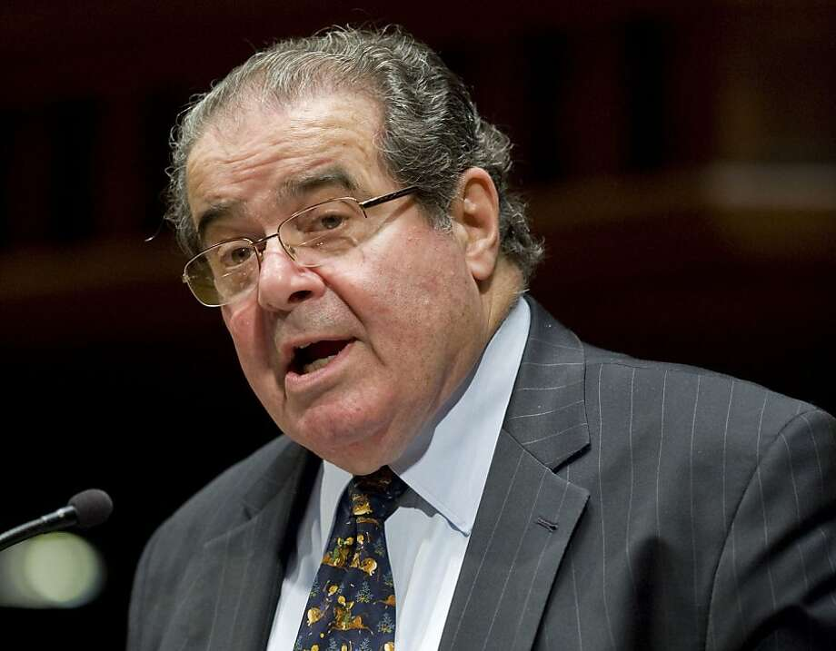 "In an earlier decision, Supreme Court Justice Antonin Scalia, above, noted that the government can enforce laws as long as they don't selectively target religious practices. Otherwise, he said, religious adherents will claim ""exemptions from civic obligations of almost every conceivable kind."" Photo: Jessica Hill, Associated Press"