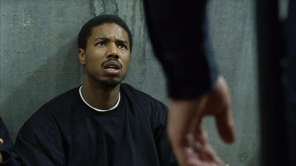 "Michael B. Jordan as Oscar Grant in ""Fruitvale Station."""
