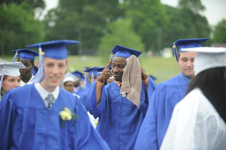 Commencement exercises for Frank Scott Bunnell High School in Stratford, Conn. Wednesday, June 26, 2013. Photo: Autumn Driscoll / Connecticut Post