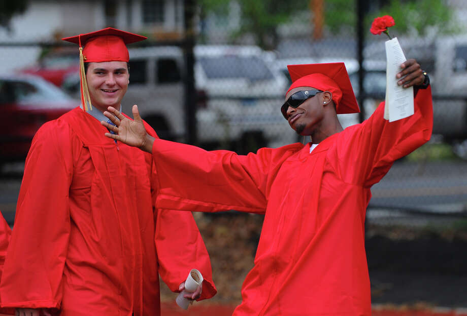 Graduate Bernard Brantley during Stratford High School's 124th Annual Commencement in Stratford, Conn. on Wednesday June 26, 2013. Photo: Christian Abraham / Connecticut Post