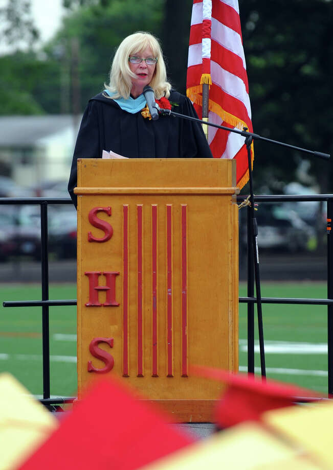 Margaret Lasek, Interim Superintendent of Schools, presents the Class of 2013 during Stratford High School's 124th Annual Commencement in Stratford, Conn. on Wednesday June 26, 2013. Photo: Christian Abraham / Connecticut Post
