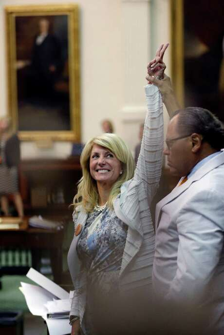 Sen. Wendy Davis, D-Fort Worth, has become Texas Democrats' rising star after her filibuster. Photo: Eric Gay, STF / AP