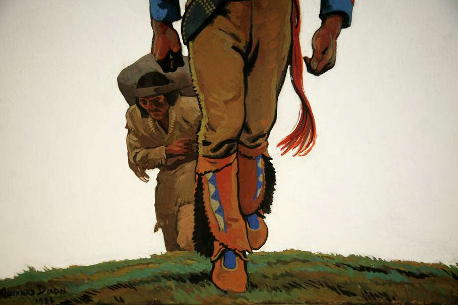 Maynard Dixon (1875-1946), Two Packers, 1936, gouache on board, Briscoe Museum Collection, Purchased with funds provided by The Jack and Valerie Guenther Foundation Photo: Courtesy Photo, Briscoe Western Art Museum