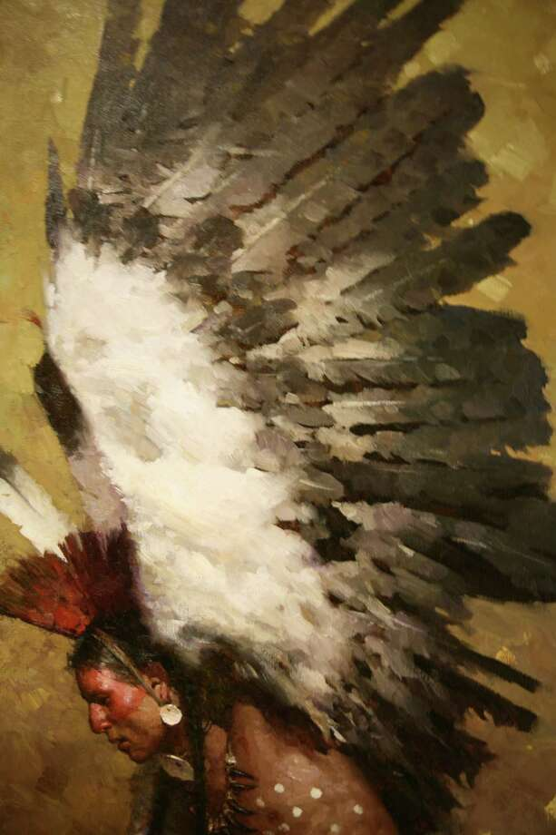 Z. S. Liang (born 1953), Eagle Dancer Potawatomi, oil, n.d., Promised Gift of The Jack and Valerie Guenther Foundation Photo: Briscoe Western Art Museum