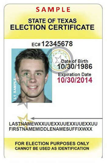 Texas Election Identification Certificate To Apply For An