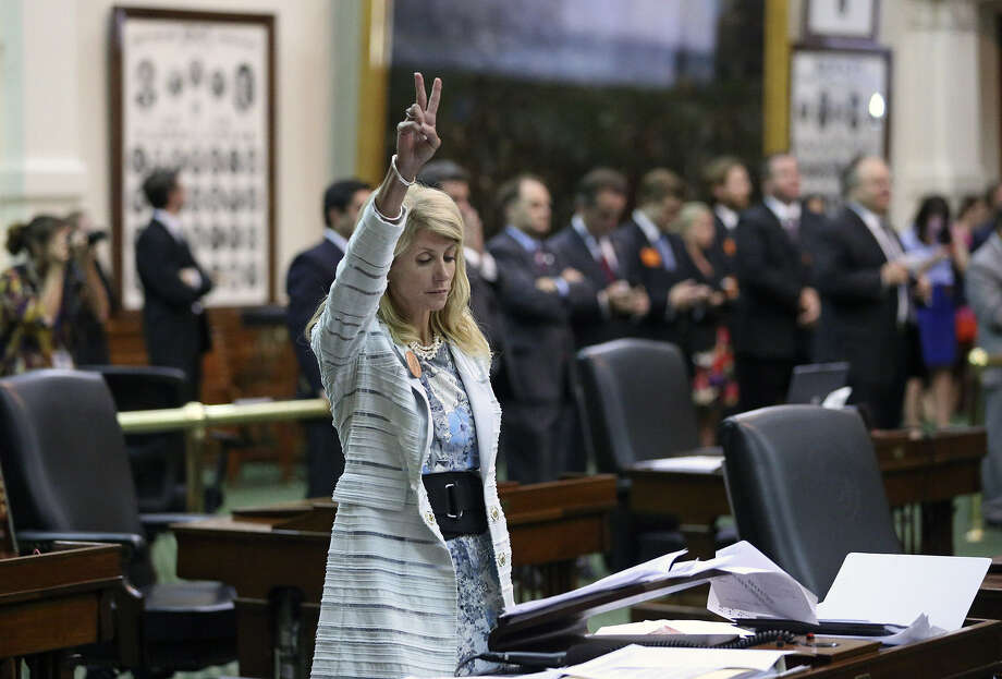 """Republicans acknowledged that in the wake of the Fort Worth senator's filibuster on the last day of the special session, they now have a """"Wendy Davis problem."""" Photo: Tom Reel / San Antonio Express-News"""