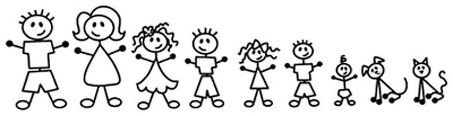 The stick-figure family might be popular in Westport would not sit well with Dakota roughnecks at the Horseshoe Bar. Photo: Contributed Photo / Westport News