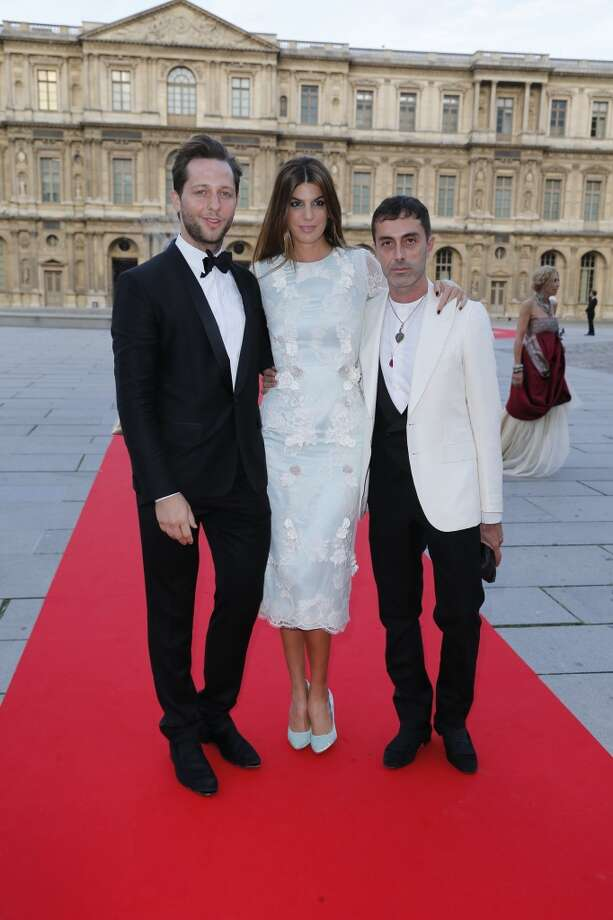 Derek Blasberg, left, Bianca Brandolini, and Giambattista Valli
