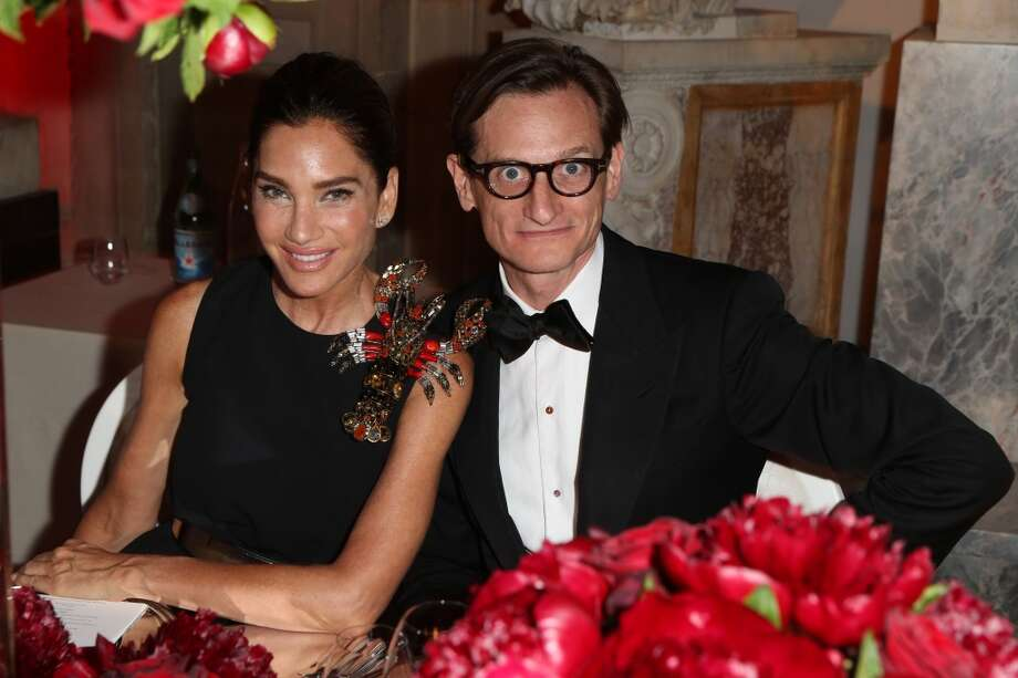 Tracey Amon, left, with Hamish Bowles
