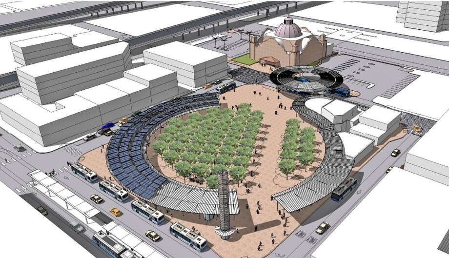 Another view of the transit center facing west.
