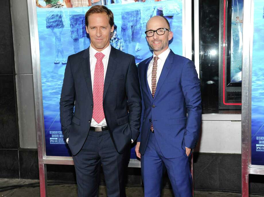 "Writers and directors Nat Faxon, left, and Jim Rash attend the premiere for ""The Way, Way Back"" at the AMC Loews Lincoln Square on Wednesday, June 26, 2013, in New York. (Photo by Evan Agostini/Invision/AP) ORG XMIT: NYEA105 Photo: Evan Agostini, AP / Invision"