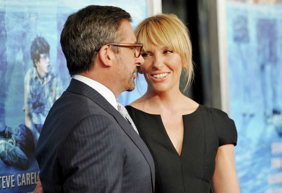 "Actors Steve Carell and Toni Collette attend the premiere for ""The Way, Way Back"" at the AMC Loews Lincoln Square on Wednesday, June 26, 2013 in New York. (Photo by Evan Agostini/Invision/AP) ORG XMIT: NYEA124 Photo: Evan Agostini, AP / Invision"